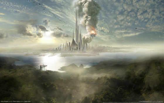 fantasy, облака