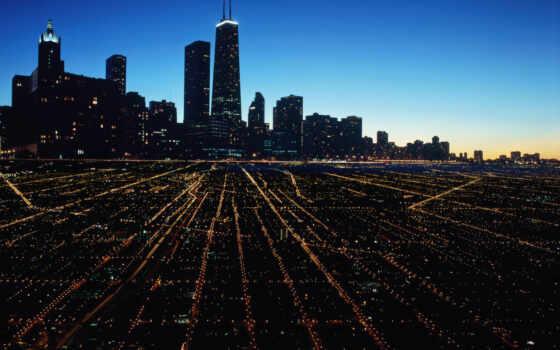 chicago, город, море