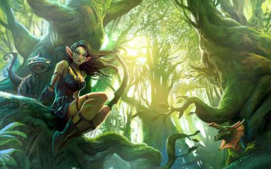 fantasy, elfy, devushki