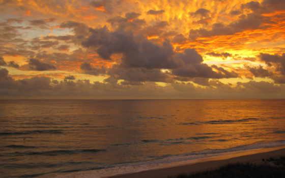 небо, берег, вечер