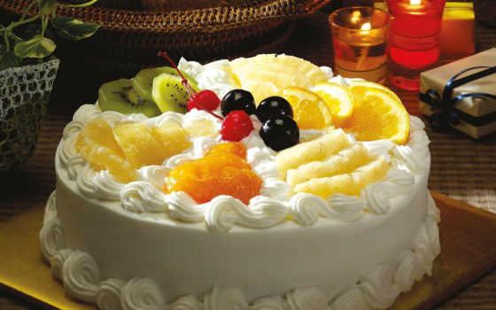 торт, мороженое, десерт, плод, cakes, взгляд,