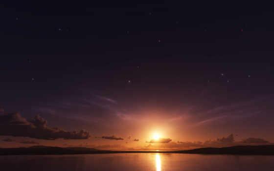 небо, sun, oblaka
