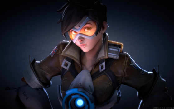 overwatch, tracer, art, fan, овервотч,