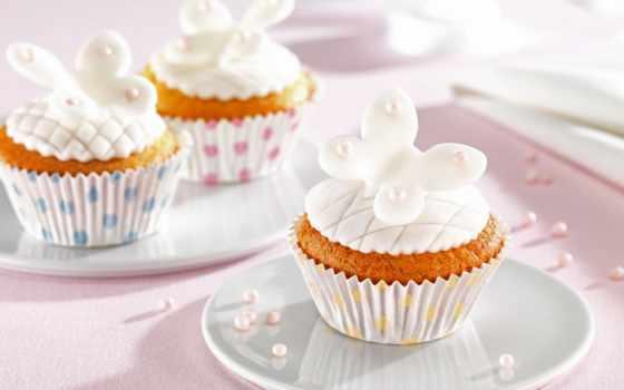 muffins, mit, кексы, fondant, und, cupcakes, dr, von, dekorieren,