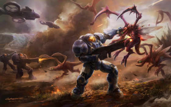 starcraft, art, concept, битва, ft, terran, керриган, оружие, maduk,