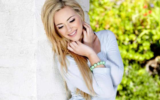 blonde, стене, sophia, рыцарь, women, улыбающаяся,