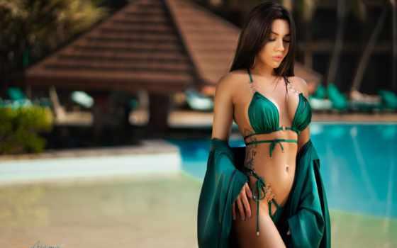 ,, пупок, живот, одежда, бикини, красота, бирюза,  купальный костюм, женское белье,  bikini verde, зеленый,