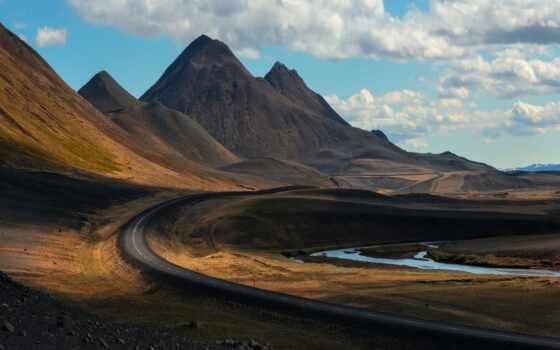 iceland, гора, дорога