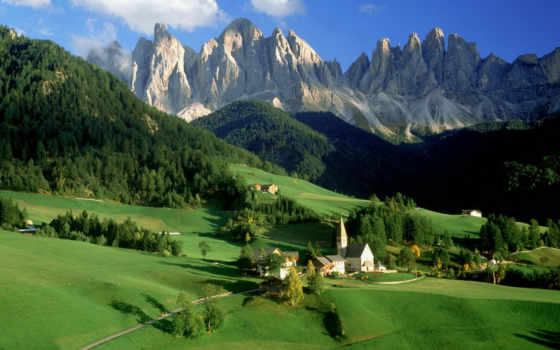italy, val, funes, dolomites, nature, download, resolution, desktop, альпы, село,