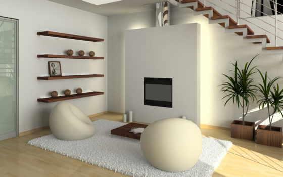 interer, каминь, hai, тек, dizain, кресла, лестница, стиле, гостиной, polki, камином, камины,
