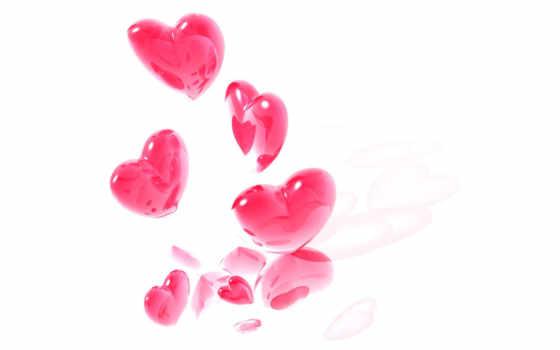 сердечки, розовые, розовый