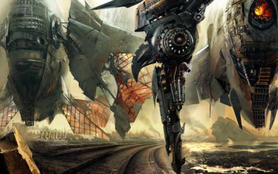 корабли, космические, фантастика