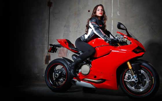 девушка на мотоцикле Фон № 110456 разрешение 2560x1440