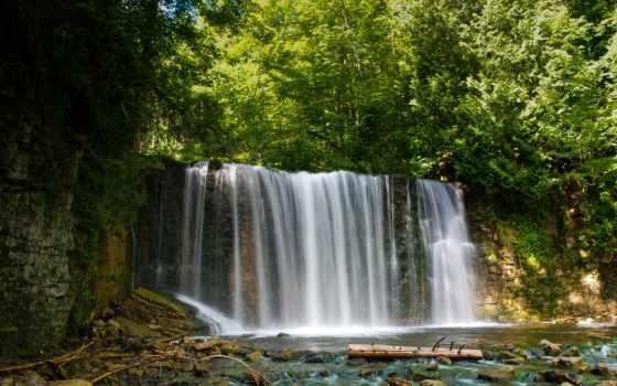 природа, изображение, widescreen, канада, waterfalls, wanted, онтарио, bracebridge,
