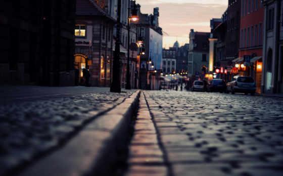 улица, depth, поле, макро, зданий, дорога, взгляд, market, roads, человека,