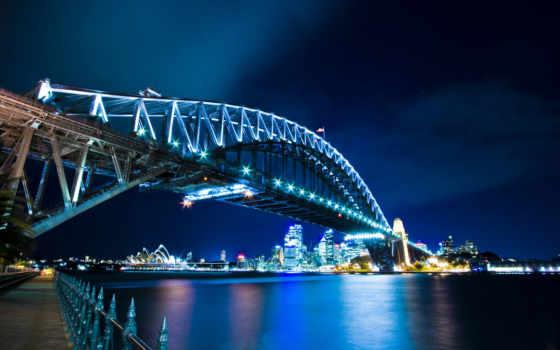 австралия, мост, sydney, harbor, гавань, город, заставки,