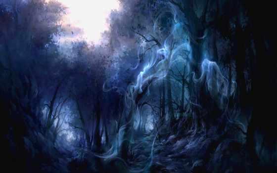 art, ghost, pinterest, halloween, michael, ghosts, картинка, трансильвании, stokes, abyss, лес,