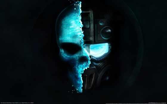 ghost, recon, будущее, солдат, tom, clancy, череп, games,