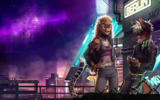 furry, art, cyberpunk, artist, fandom