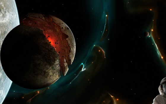 графика, taenaron, планеты, planet, космос,