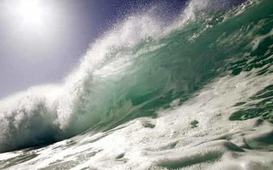 волна, морская, море, морские, волны, брызги, взгляд, пальмы,
