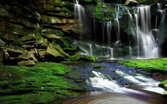 водопад, природа, clear