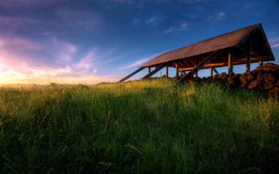 природа, закат, free