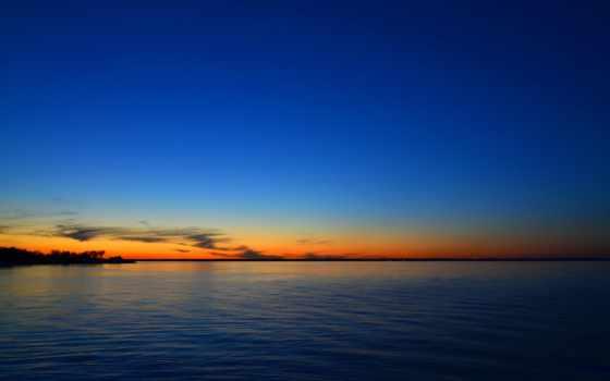 море, закат, rocks, skyline, берег, небо, clouds,