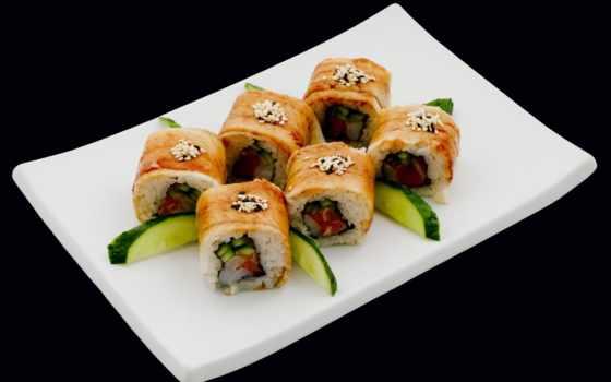 sushi, морепродукты, eда