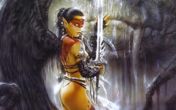 fantasy, девушка, воин