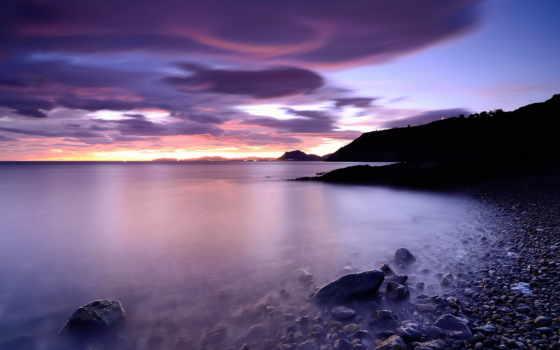 море, beaches, природа, пляж, побережье, небо, ночь, landscape, seascapes,