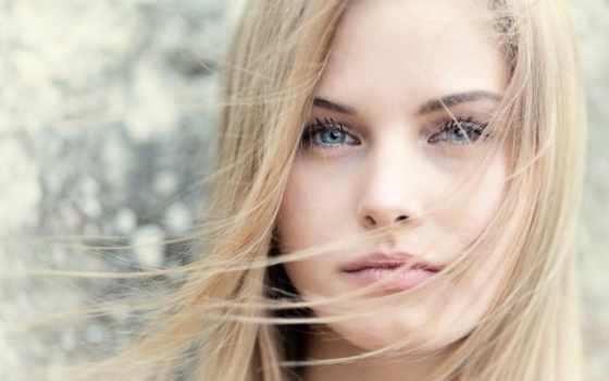 девушка, глаза, волосы, blonde, картинка, description,