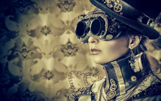 стимпанк, steampunk, девушка, наклейки, стены,