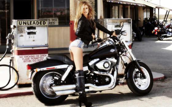 девушки, мотоциклы, но