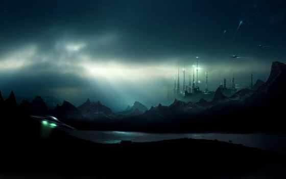 ufo, небо, широкоформатные