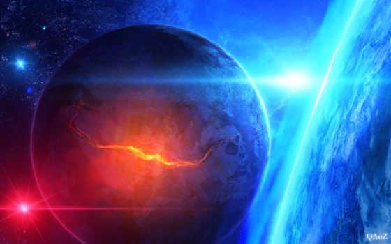 космос, art, планеты