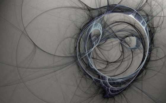 круги, нити, дым, abstrakciya,