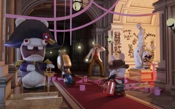 rabbids, raving, time, travel, игры, rayman, кролик,