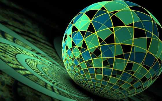 мяч, абстракция, glass
