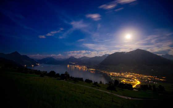 ночь, озеро, swiss Фон № 144823 разрешение 2560x1600