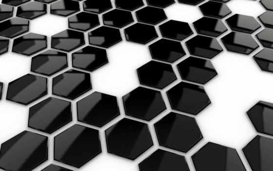 black, white, Мозаика, которых, тег, шестигранников, есть, всех,
