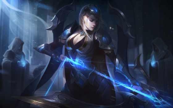 чемпионат, ashe, league, legends, skin, action-adventure game, cg artwork, женщина-воин, аниме, черные волосы, темнота, игрище, длинные волосы,  league of legends, искусство,