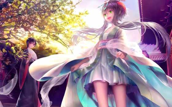 anime, luo, art, tianyi, fan, vocaloid, платье, девушка,