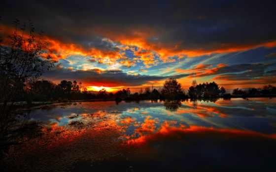 небо, резкое, oblaka