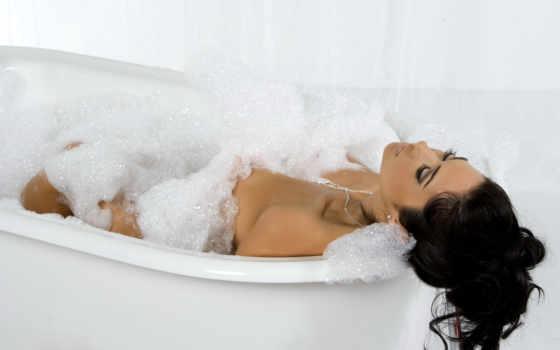 девушка, ванна, пеной, tub, ванну, bubble, пенка, пену, ванной, devushki,