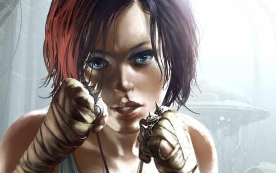 девушка, боевая
