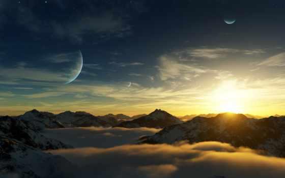 горы, планеты