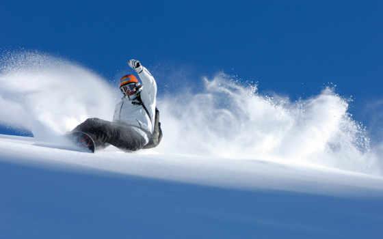 сноуборд, спорт, снег