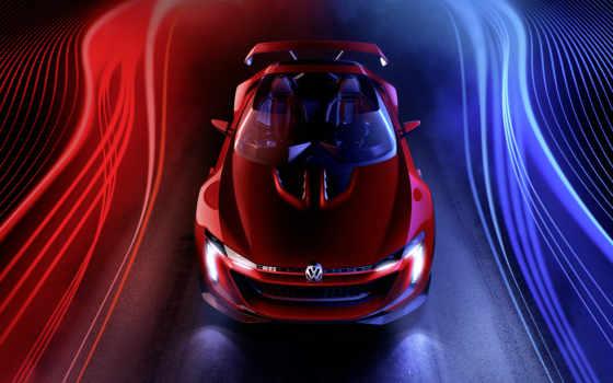volkswagen, gti, roadster, gran, turismo, vision, concept,