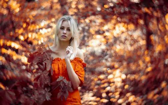 девушка, осень, модель, outdoor, фон, фото